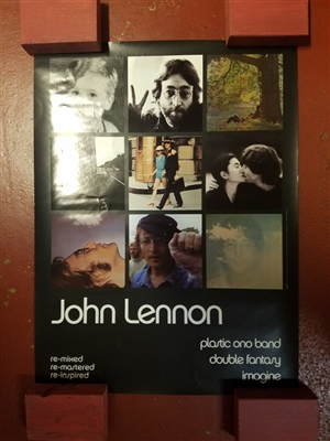 "JOHN LENNON 2000 REMIXES ORIGINAL 36"" X 48"" PROMOTIONAL POSTER"