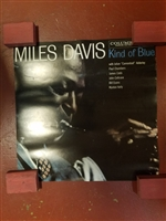 "MILES DAVIS/DAVE BRUBECK DOUBLE SIDED KIND OF BLUE/TIME OUT ORIGINAL 24"" X 24"" PROMOTIONAL POSTER"
