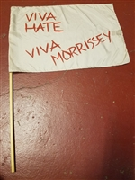 "MORRISSEY 1988 VIVA HATE ORIGINAL 17"" x 12"" SILK FLAG"