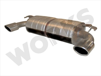 WORKS Exhale Stealth WORKS Performance Muffler - 2008+ EVO X
