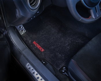 WORKS Embroidered Floor Mats - BRZ