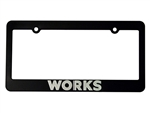 WORKS License Plate Frame