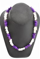 Purple White Chip Necklace