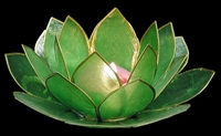 Capiz Leaf Candle Holder