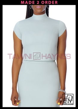 Tawni Haynes Cap Sleeve Crop Top