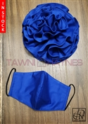 Tawni Haynes Royal Blue Flower Pin with Matching Mask