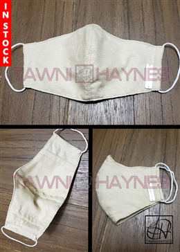Tawni Haynes In Stock! Cream Textured Cotton Mask