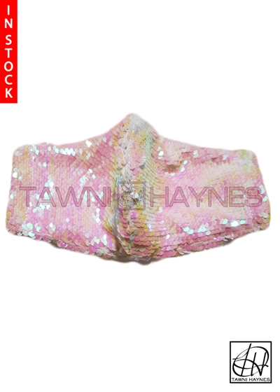Tawni Haynes In Stock! Iridescent Sequin Mask