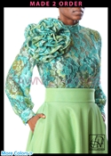 Tawni Haynes Paisley Lace Circle Flower Blouse