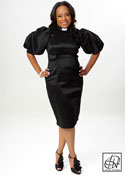 Clergy Puff Sleeve Pencil Dress
