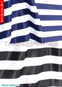 1 Inch Striped Poly Satin Fabric
