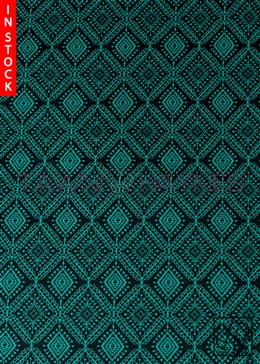 Green & Black Geometric Fabric