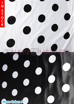 3.25 Inch Polka Dot Poly Satin Fabric