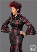 High Collar Peplum Jacket