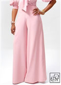 High Waist Crepe Wide-Leg Slacks