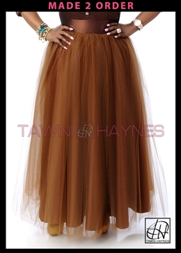 High Waist Tulle Skirt