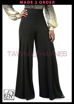 Tawni Haynes Knit Crepe Wide Leg Pants