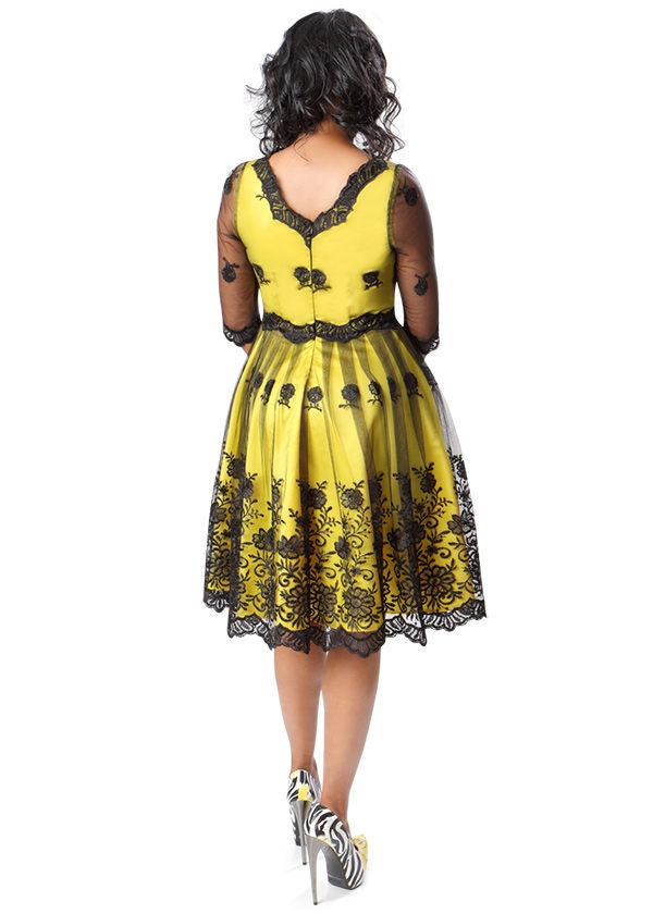 May 26th Suit Up Swing Style: Lace Overlay Swing Dress