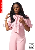 Tawni Haynes In-Stock Crepe Bow Blouse