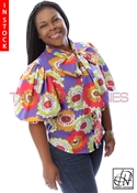 Tawni Haynes In-Stock Floral Cotton Lawn Bow Blouse