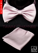 Tawni Haynes Lilac Poly Satin Bow Tie & Pocket Square