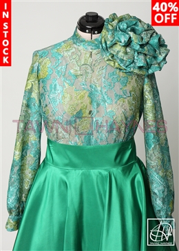 Tawni Haynes In-Stock Paisley Lace Burnout Circle Flower Blouse
