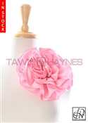 Tawni Haynes Circle Flower Pin (8 inch) - Blush Poly Satin