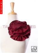 Tawni Haynes Circle Flower Pin (8 inch) - Cranberry Knit