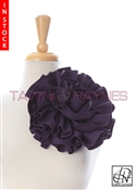 Tawni Haynes Circle Flower Pin (8 inch) - Purple Stretch Cotton
