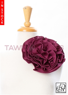 Tawni Haynes Circle Flower Pin (8 inch) - Magenta Stretch Cotton