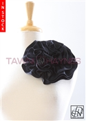 Tawni Haynes Circle Flower Pin (8 inch) - Navy Two Tone Taffeta