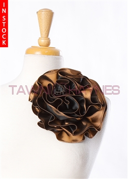 Tawni Haynes Circle Flower Pin (8 inch) -  Copper Two Tone Taffeta