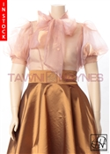 In-Stock! Copper Organza Bow Blouse