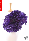 Tawni Haynes Extended Circle Flower Pin (19 inch) - Purple Taffeta