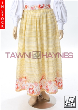 Tawni Haynes In-Stock Floral Lawn Gathered Swing Skirt