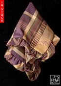 Tawni Haynes Lap Scarf - Plaid Champagne Purple Brocade