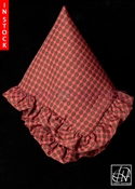 Tawni Haynes Lap Scarf - Red Brown Dotted Brocade