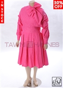 Tawni Haynes In-Stock Brocade Pleated Bow Dress