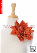 Tawni Haynes Petal Flower Pin (10 inch) - Orange Stretch Taffeta