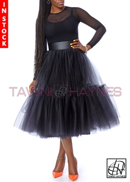 Tawni Haynes In-Stock Tiered Tulle Skirt