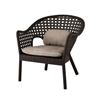 IRIS RATTAN CLUB CHAIR WITH LOW BACK CUSHION ( Set of 4 )