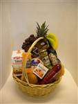 Gourmet Gift Basket - Fruit, Cheese, & Crackers