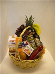Gourmet Gift Basket - Fruit, Cheese, Meat, Crackers & Goodies