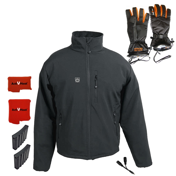 Battery Heated Clothing >> Turboheat Jacket Battery Heated Gloves Men Rechargeable