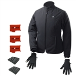 ActiVHeat Women's TurboHeat Jacket + Heated Glove Liners All Day Endurance Bundle