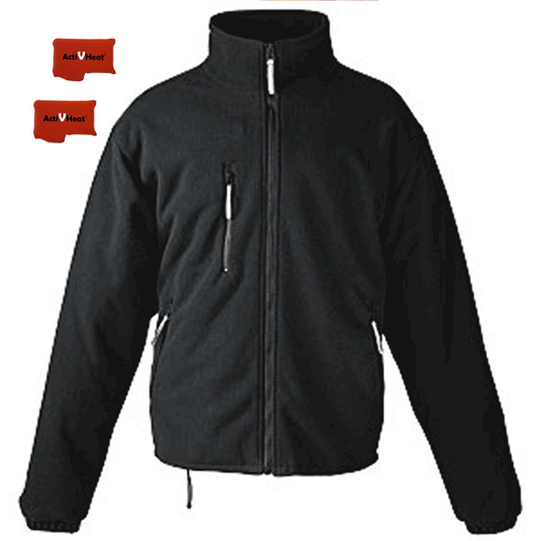 7a042d171 ActiVHeat Men's RECHARGEABLE Heated Windproof Fleece Jacket - Ultimate  Package