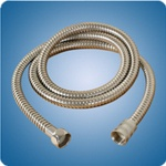 "Scandvik special application hose -71001, 6-1/2' (Approximate) Stainless steel flex 1/2"" NPT both ends SR BBG part#1894565"