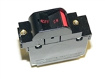 Carling guarded rocker style circuit breaker with red horizontal lettering 6 AMP