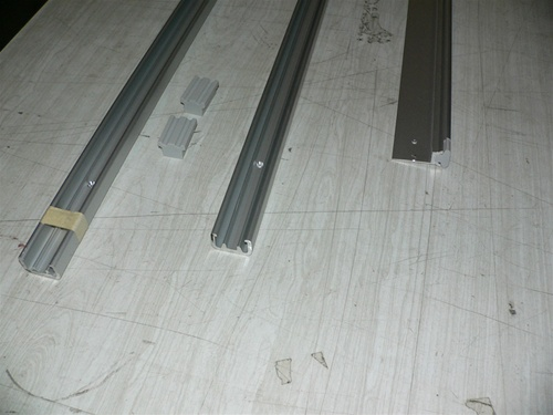 Sliding door track set for cabin entry slider doors, Roller Ball System  -Aluminum - single door set