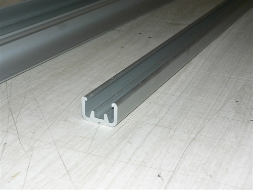 Sliding door track, Top/Bottom roller-glide system , aluminum - sold per  foot (304 8mm)